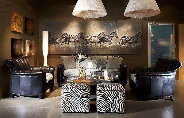 Африканский этно стиль в интерьере гостиной