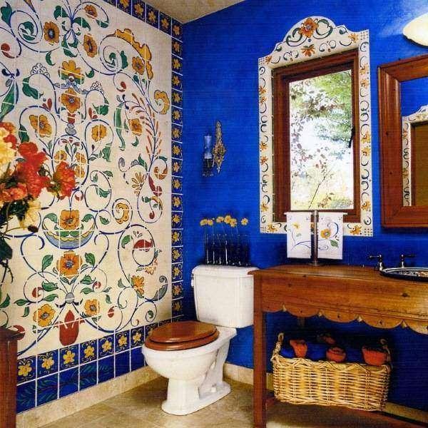 Дизайн интерьеров в этническом стиле - фото ванной