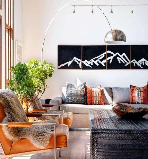 Этнический стиль в интерьере гостиной