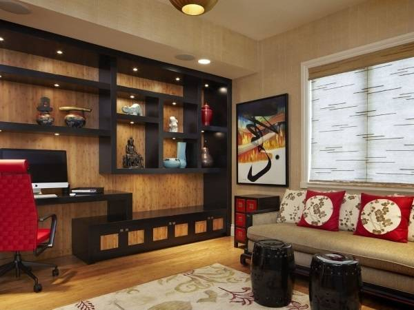 Этнический интерьер гостиной в японском стиле