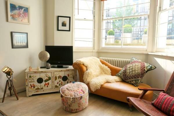 Дизайн интерьера с мебелью в японском этно стиле
