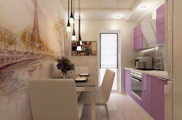 фотообои кухни в интерьере фото