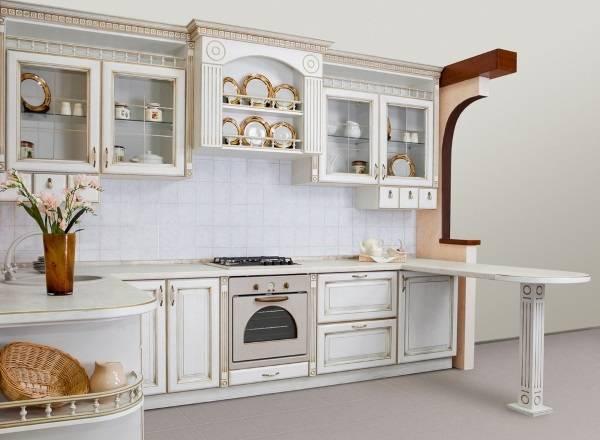 Самые красивые угловые кухни с барной стойкой - фото в классическом стиле