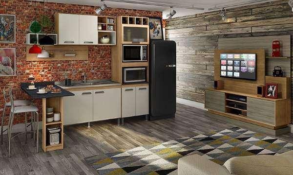 Кухня гостиная в стиле лофт - фото в дизайне квартиры-студии