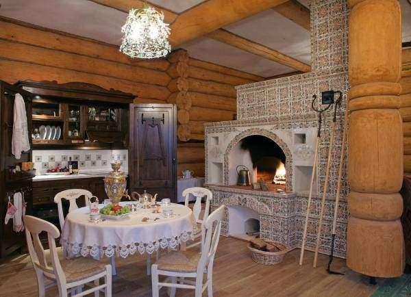 Русский этнический стиль в интерьере - фото в частном доме