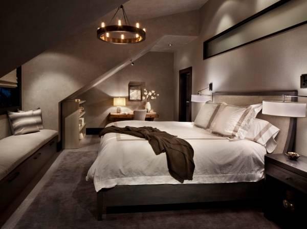 Светодиодные лампы Эдисона в интерьере спальни