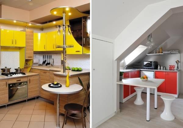 Стильные барные стойки в дизайне маленьких угловых кухонь