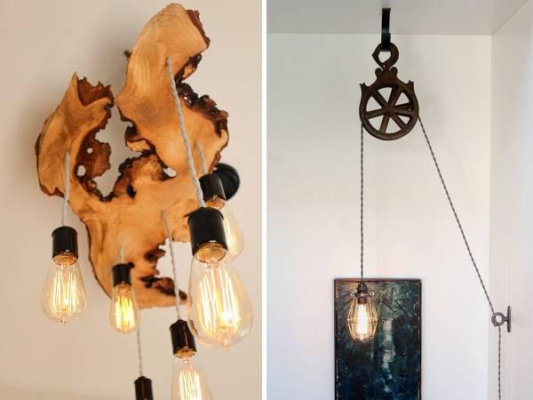 Оригинальные светильники с лампочкой Томаса Эдисона