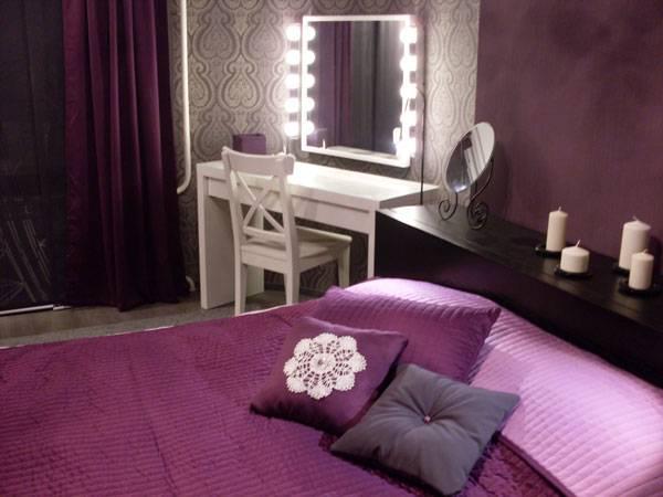 Фиолетовая спальня девушки-подростка