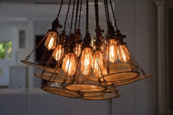 Лампа Эдисона - фото вблизи