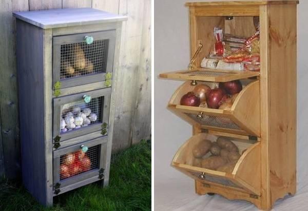 где хранить на кухне картошку и лук