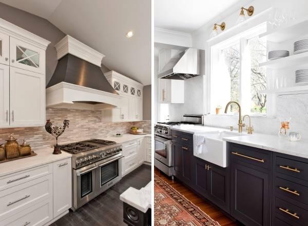 Современный дизайн кухни 2017 с мебелью шейкер