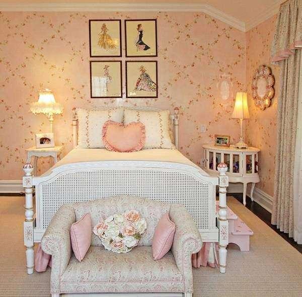 Спальня шебби шик - фото комнаты девушки