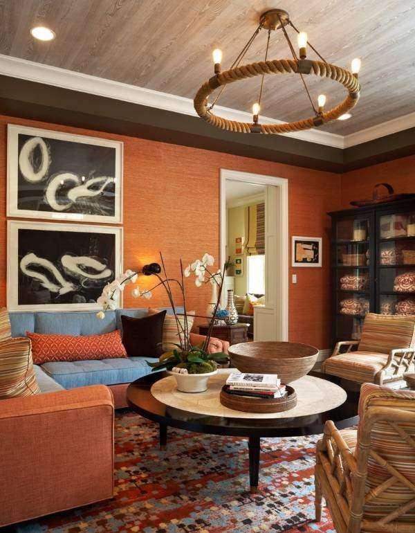 Лампочки Эдисона в интерьере - идея для гостиной