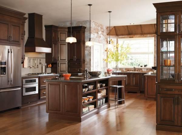Дизайн кухни - фото 2017 современные идеи с темным металлом