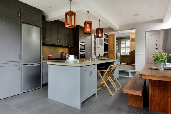 Дизайн кухни 2017 - фото с модным островом