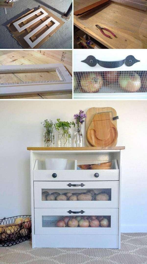 Тумба для хранения овощей на кухне своими руками