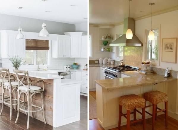 Угловые кухни с барной стойкой - фото лучших идей 2017