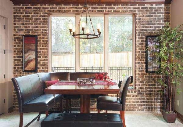 Ретро лампы Эдисона в интерьере - фото над столом
