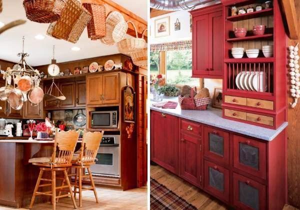 Как украсить кухню мелочами в деревенском стиле