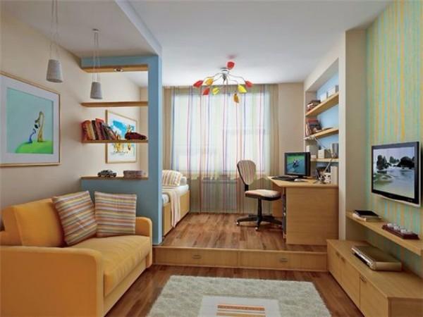 Дизайн интерьера однокомнатной квартиры фото 4