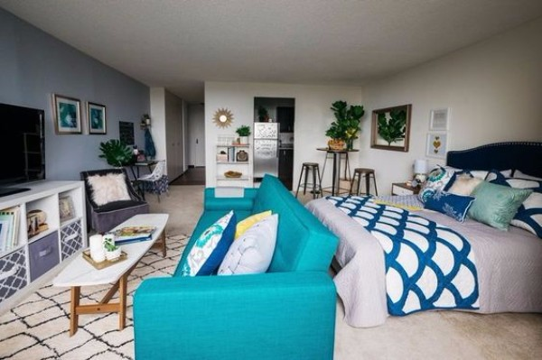 Дизайн интерьера однокомнатной квартиры фото 3