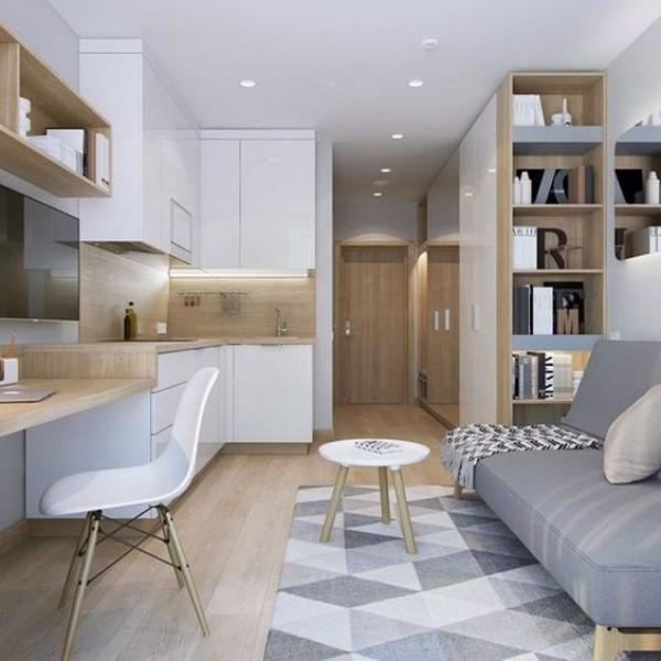 Дизайн однокомнатной квартиры 30 кв м - фото 5