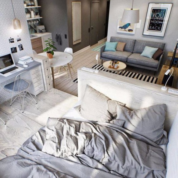 Современный дизайн в однокомнатной квартире - фото 8