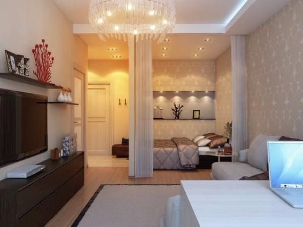 Освещение однокомнатной квартиры 40 кв м - фото 7