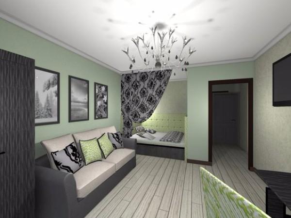 Дизайн однокомнатной квартиры в современном стиле - фото 7