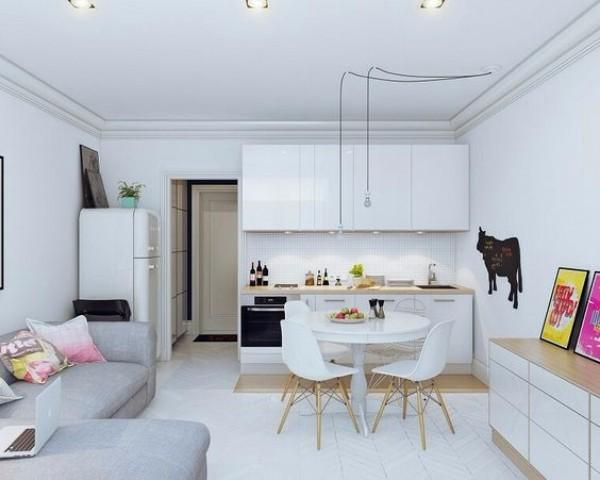 Дизайн однокомнатной квартиры - фото 4