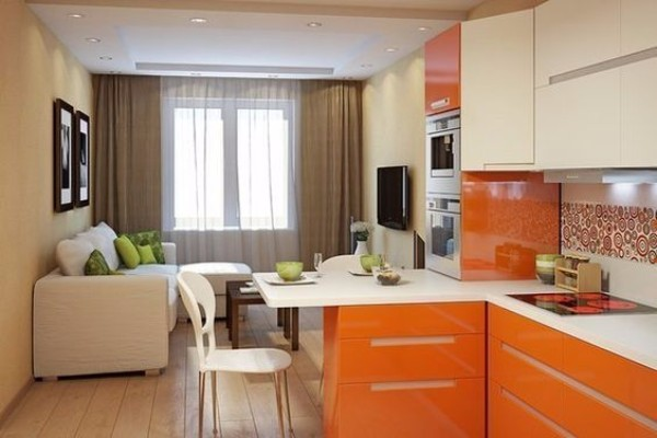 Дизайн однокомнатной квартиры фото в современном стиле - фото 4
