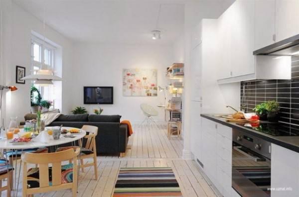 Цветовое решение в дизайне однокомнатной квартиры