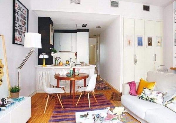 Современный дизайн однокомнатной квартиры - фото и идеи 2017