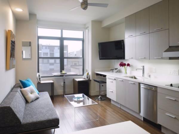 Современный дизайн однокомнатной квартиры: освещение