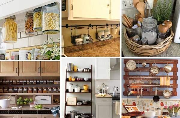 Как украсить кухню своими руками с баночками и органайзерами