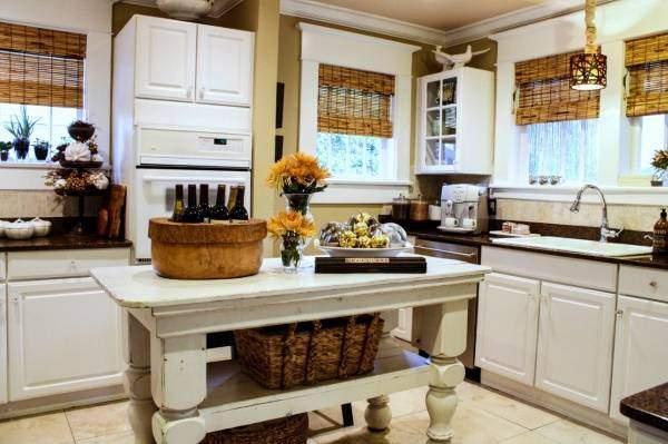 Интересные идеи для кухни - плетеный и деревенский декор
