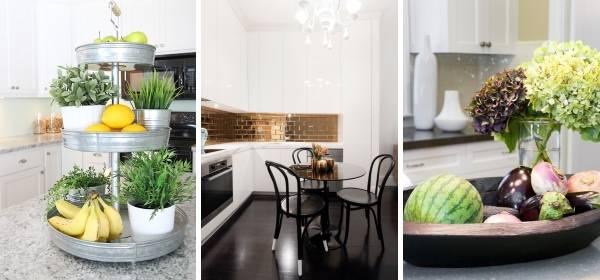Чем лучше украсить стол на кухне - фото лучших идей