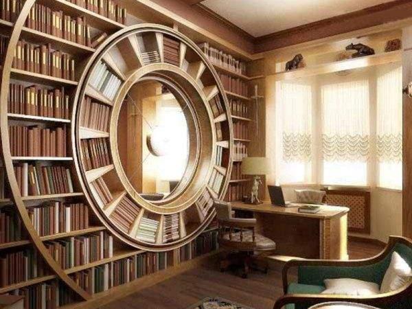Книжные полки на стену из дерева