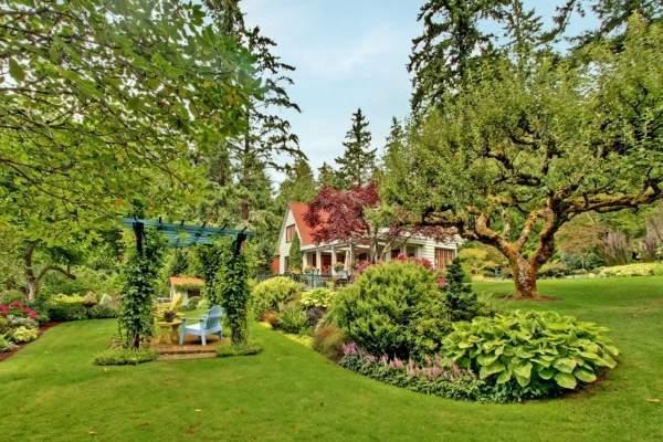 Как спланировать участок загородного дома - фото зоны отдыха в саду