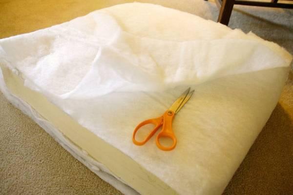 Сделать своими руками подушку из поролона