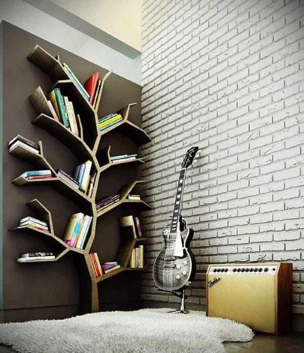 Полка книжная настенная в форме дерева