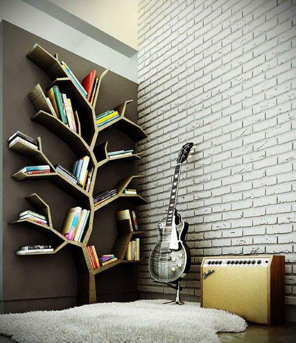 Книжка интерьер дерево