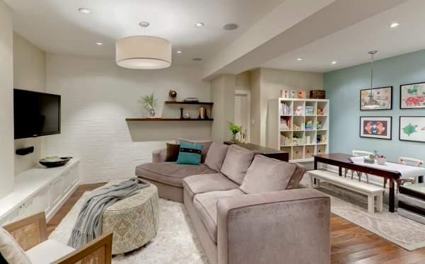 Дизайн гостиной в однокомнатной квартире с детьми