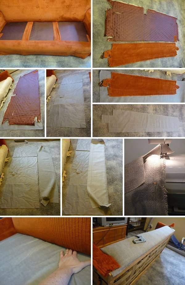 Обшить мебель тканью своими руками