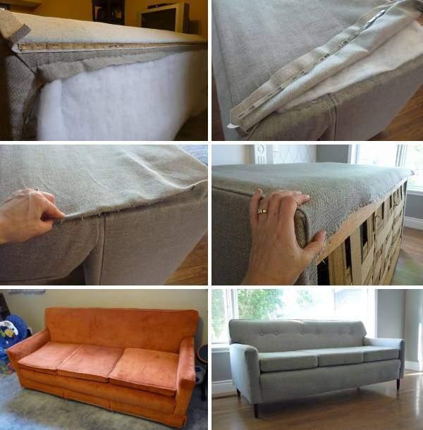 Ремонт и реставрация мягкой мебели - перетяжка дивана