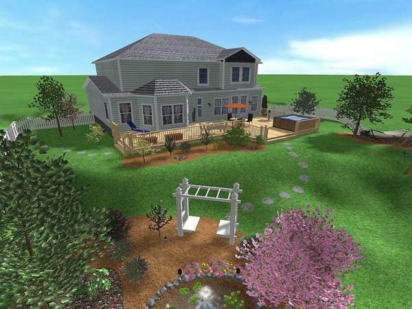 Проекты участков загородных домов - дизайн и планировка 10 соток