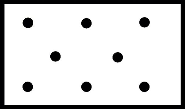Расположение светильников на потолке в шахматном порядке