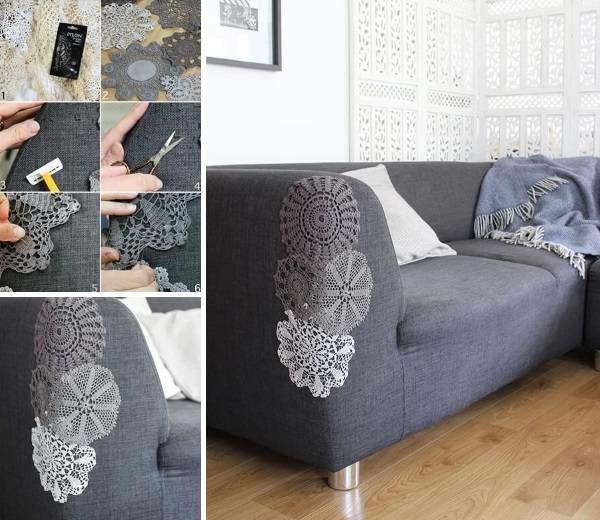 Задекорировать диван своими руками 52