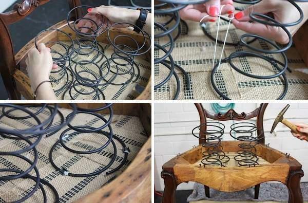 Ремонт дивана ремонт пружины